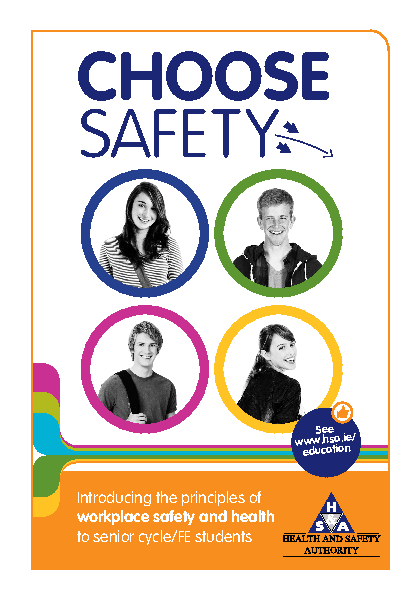 Choose Safety Flyer  front page preview