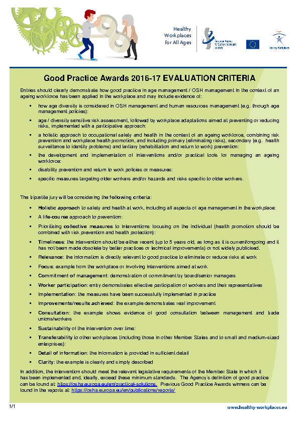 Evaluation Criteria 2016 front page preview