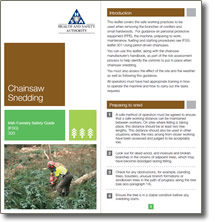Irish Forestry Safety Guide - Chainsaw Snedding