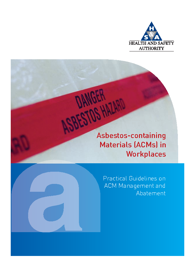 Asbestos Guidelines front page preview