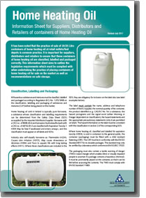 Home Heating Oil Information Sheet Cover
