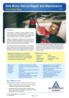 Motor Vehicle Repair Information Sheet front page preview