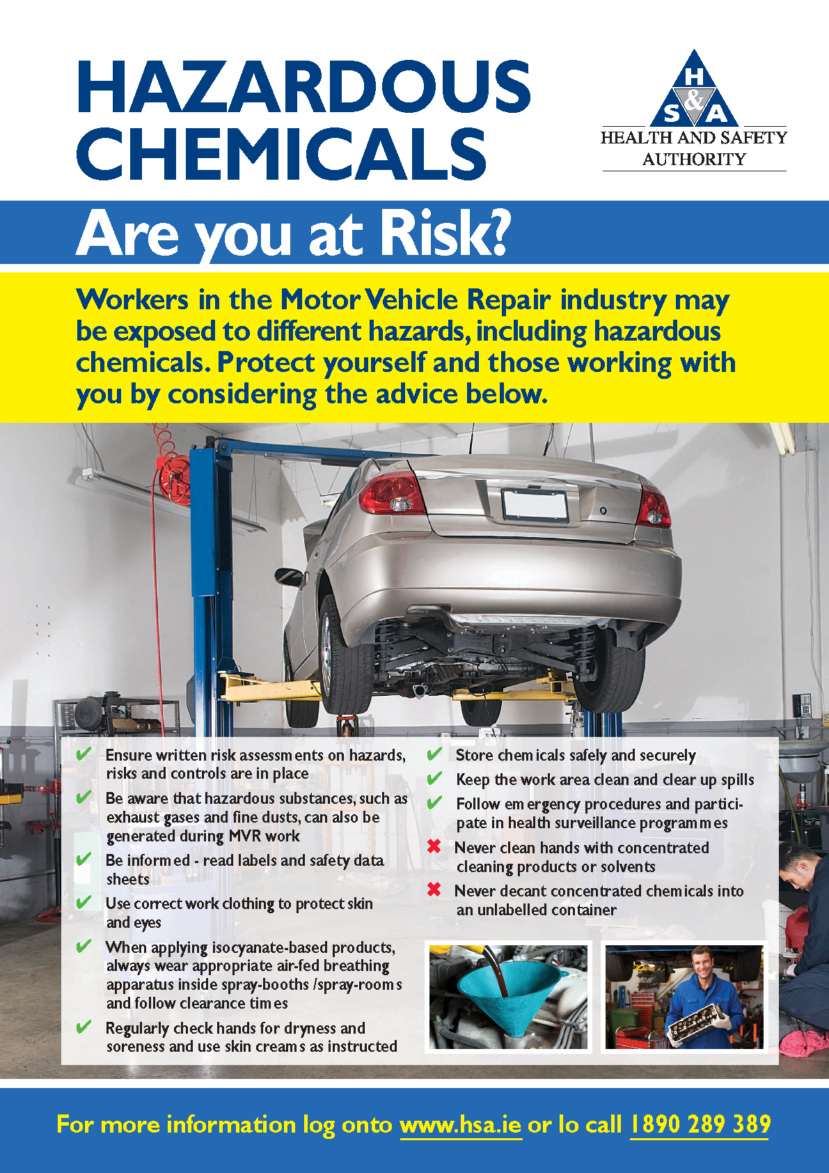 Motor Vehicle Repair - Hazardous Chemicals front page preview