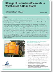 Storage of Hazardous Chemicals in Warehouses and Drum Stores Cover