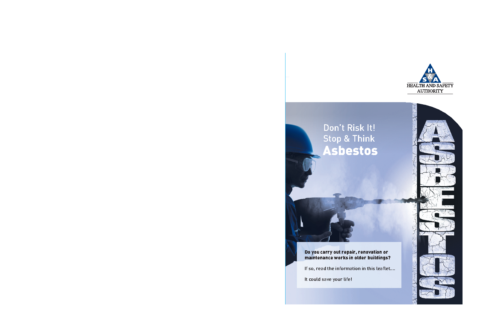 asbestos flyer front page preview
