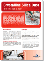 Crystalline Silica Dust Information Sheet Health And