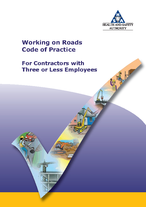Code of Practice for Three or Less Working on Roads front page preview