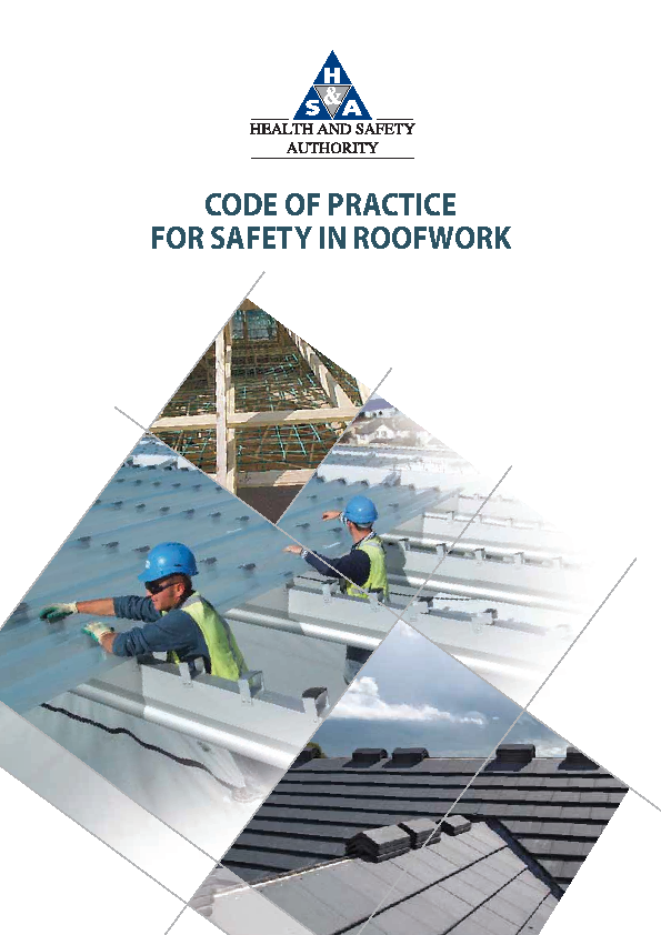 Code of Practice for Safety in Roofwork front page preview