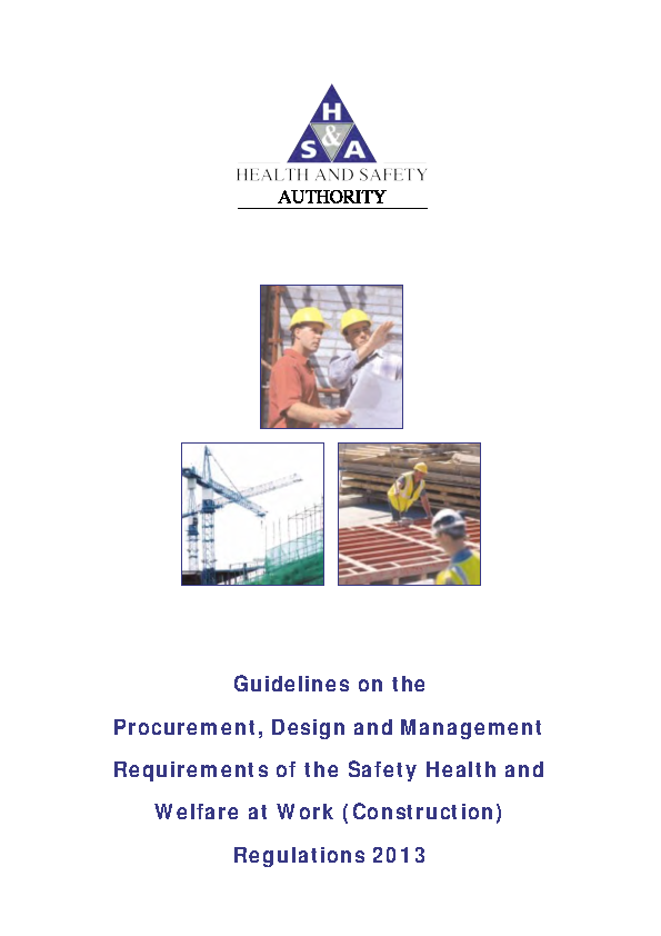 Guidelines on Procurement Const Regs 2013 front page preview