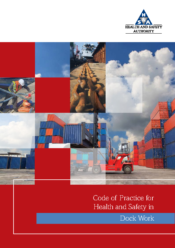 Code of Practice for Health and Safety in Dock Work front page preview