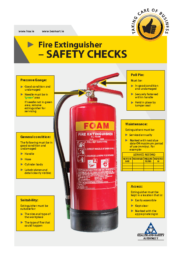 Fire Extinguisher Safety Checks front page preview