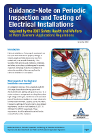 Guidance-Note on Periodic Inspection and Testing of Electrical Installations front page preview