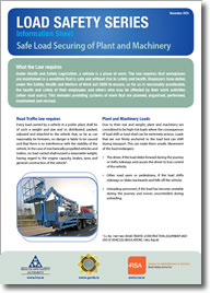 Safe Load Securing of Plant and Machinery cover