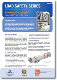 Safe Load Securing of Precast Concrete Loads cover