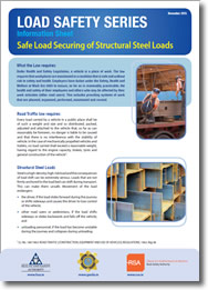 Safe Load Securing of Structural Steel Loads cover