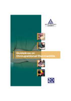 Guidelines on Occupational Dermatitis front page preview