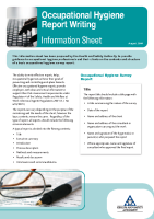 Occupational Hygiene Report Writing Information Sheet front page preview