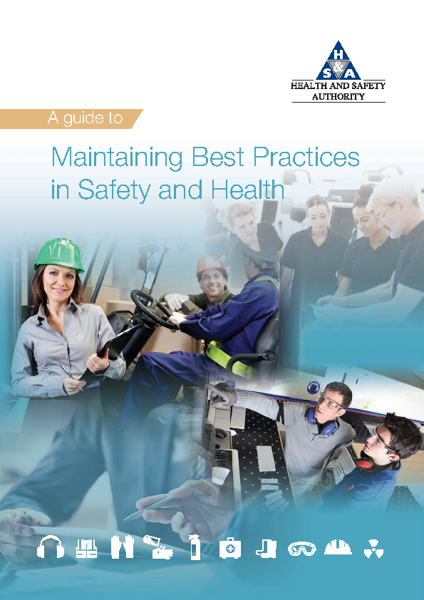 Best Practices in Safety Guide front page preview