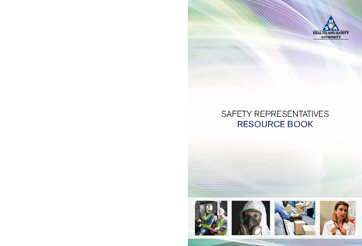Safety Representatives Resource Book front page preview