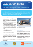 Curtain Sided Vehicles Info Sheet front page preview