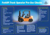 Forklift Truck Operator Poster front page preview