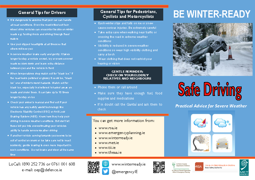 Winter Ready Advice on Safe Driving English Version front page preview