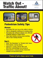 Pedestrian Safety Tips Poster front page preview
