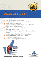 working at height permit to work template - work at height health and safety authority