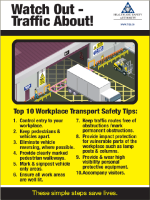 Workplace Transport Safety Tips Poster front page preview
