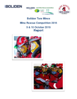 Mines Rescue Report 2015 front page preview