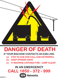electricity - danger of death sign