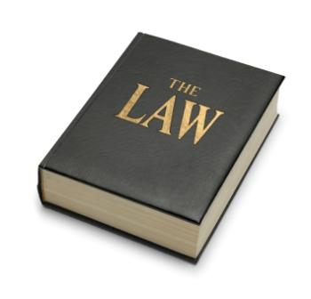 image of a closed law book