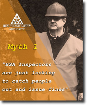 Myth 1 inspections and fines health and safety authority man watching from distance fandeluxe Images