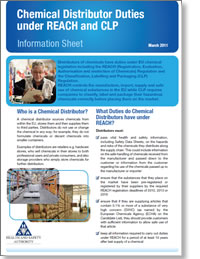 Chemical Distributor List Information Sheet REACH and CLP
