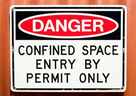 Working in confined spaces health and safety authority confined space danger sign sciox Gallery