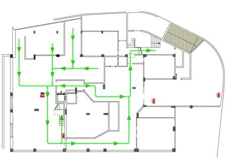 Emergency escape and fire fighting health and safety authority emergency exit route maxwellsz