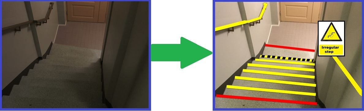 Stairs And Steps Safeguards To Prevent Slips Trips And