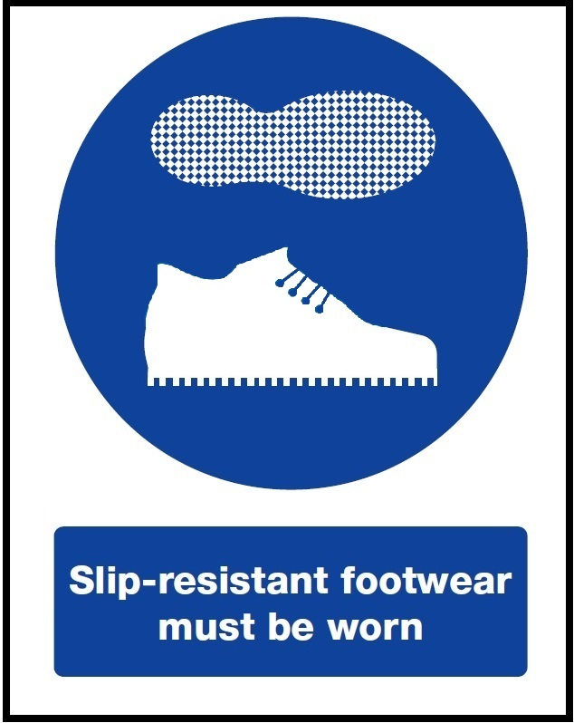 Slip resistant footwear required