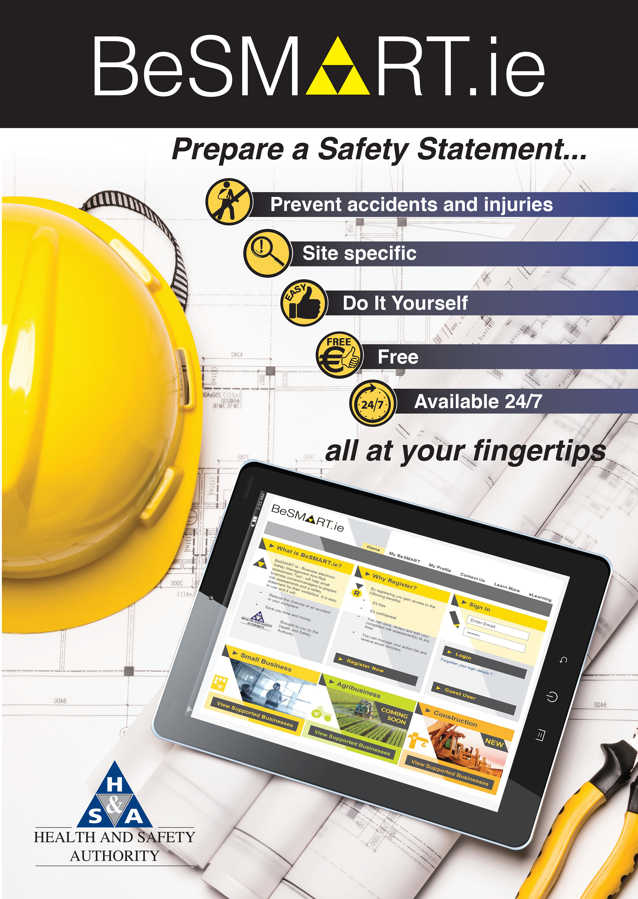 environmental health and safety plan template - for construction health and safety authority
