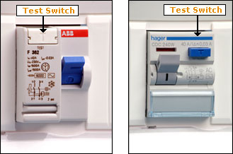 rcd test switches