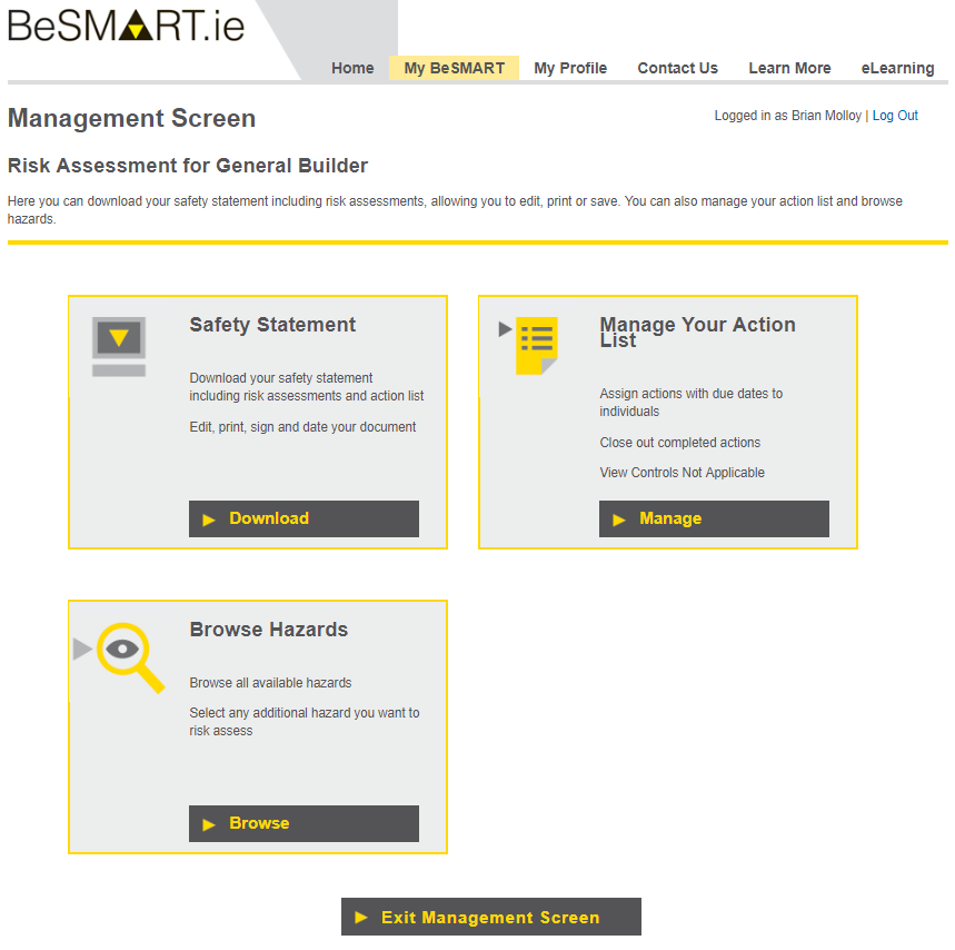 BeSMART ie for Construction - Health and Safety Authority