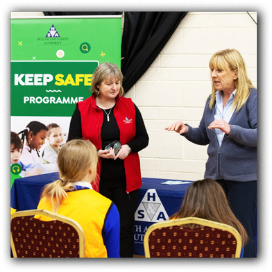 Kay Baxter and Brenda Guihen of the HSA at Keep Safe November 2019